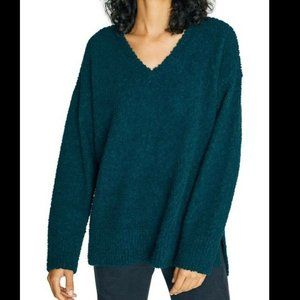 Sanctuary Women's Green V-Neck Teddy Sweater Large